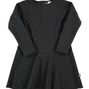 Ciera Polka-Dot Dress, Black, Size 3-14, Size: