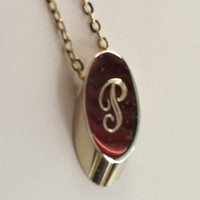 "Vintage Initial ""P"" Necklace Pendant on 16"" Chain with two pairs of Initial ""P"" Earring for Pierced Ears"