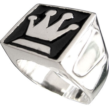 The Queen Symbol Chess Ring in Sterling Silver 925