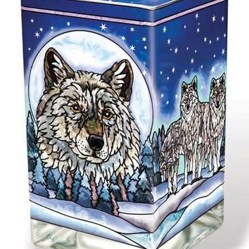 Wolf Pack Glass Votive Holder