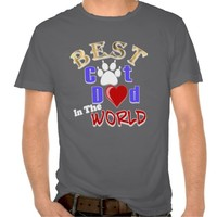 Best Cat Dad In The World for Father's Day T Shirts