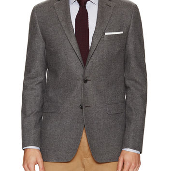 Spurr NY Men's Solid Flannel Sportcoat - Grey -
