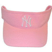 Youth New York Yankees Pink Visor Hat - NY MLB Child Baseball Golf Cap