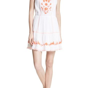 Joie Clemency Embroidered Cotton Gauze Dress | Nordstrom