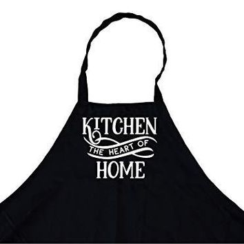 StickerChef Kitchen The Heart of The Home Chef's Funny Cooking Apron Kitchen, BBQ Grill, Breathable, Machine Washable…