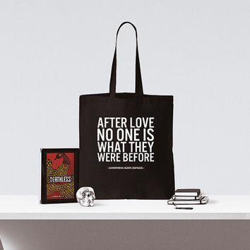 Book Quote Tote | Deathless | Love quote | Literary gift | Library quote | Book Bag | Bookworm gift  | Catherynne Valente | Gifts for her