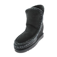 mou Womens Eskimo Sheepskin Hidden Wedge Ankle Boots