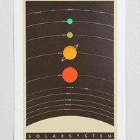 Jazzberry Blue Solar System Art Print- Multi One