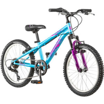 "Walmart: Mongoose 20"" Byte Girl's Mountain Bike, Teal and Pink"