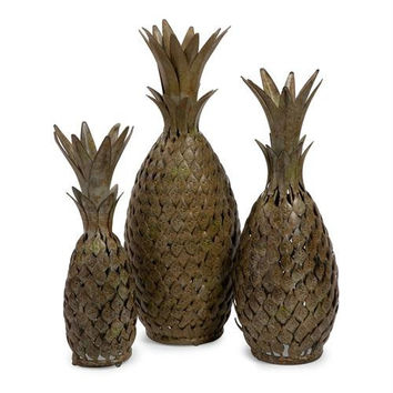 3 Decorative Table Accents - Pineapples