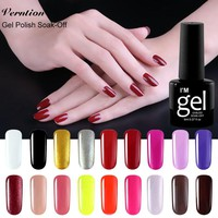 Verntion Kit for Gel Nail Polish Soak Off Nail Fashion Color UVLED Lamp Gel Nail Polish Semi Permanent UV Gel Lacquer