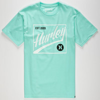 Hurley Light Up 3 Mens T-Shirt Seafoam  In Sizes