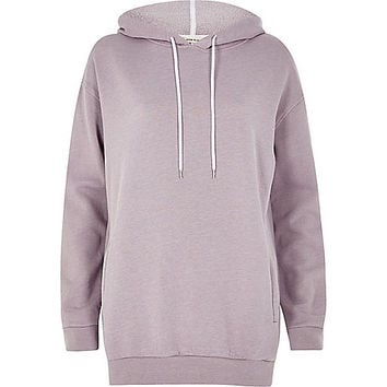 Light purple longline hoodie