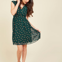 All She Wants to Do is Prance Dress in Pine | Mod Retro Vintage Dresses | ModCloth.com