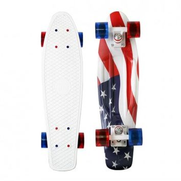 "Penny Skateboards USA 4th of July USA Flag 22"" Original Penny Skateboard"
