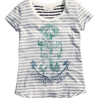 H&M - Jersey Top with Printed Design