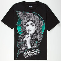 Sullen The Raven Mens T-Shirt Black  In Sizes