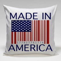made in america Square Pillow Case Custom Zippered Pillow Case one side and two side