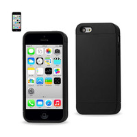 REIKO IPHONE 5C HYBRID CASE WITH CARD HOLDER IN BLACK