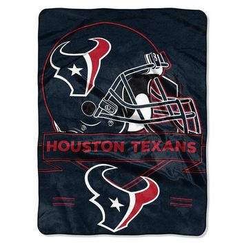Houston Texans NFL Royal Plush Raschel (Prestige Series)