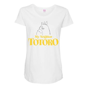 My Neighbor Totoro Maternity Scoop Neck T-shirt