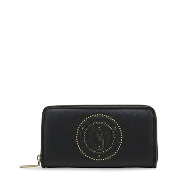 Versace Black Leather Credit Card Holder Wallet
