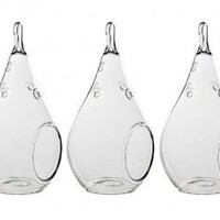 Hand Blown Glass Teardrop Tea Light Holders - Minimum order of 24 - FREE SHIPPING - Discounts for orders over 100 Items