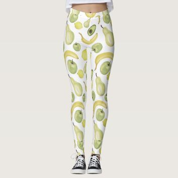 Fruity White leggings
