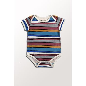 Organic Cotton Baby Onesuit - Desert Stripe 3 to 18 mo.