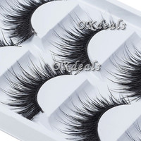 5 Pairs Women Lady Natural Thick False Eyelashes Long Handmade Fake Eye Lashes Extension Makeup Tools