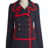 Knitted Dove Seaside Salutations Coat | Mod Retro Vintage Coats | ModCloth.com
