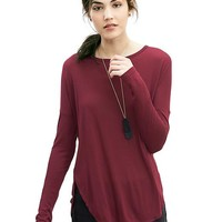Banana Republic Womens Dolman Sleeve Shirttail Tee