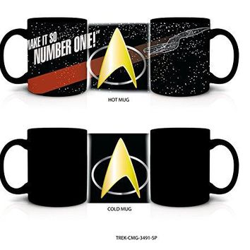 20oz  OFFICIAL Star Trek Color Changing Black Ceramic Coffee Mug Novelty GIFT