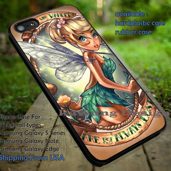 Are Not Always Lost Tattoo | Tinker Bell Art | Disney | Never Grows Up | case/cover for iPhone 4/4s/5/5c/6/6+/6s/6s+ Samsung Galaxy S4/S5/S6/Edge/Edge+ NOTE 3/4/5 #cartoon #disney #animated #tinkerbell #comic ii