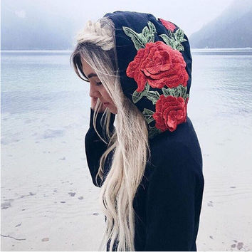 Hoodies Tops Autumn Stylish Long Sleeve Embroidery Hats [10793499463]