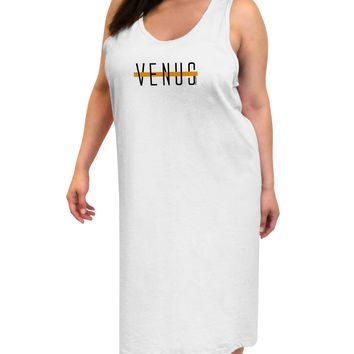 Planet Venus Text Only Adult Tank Top Dress Night Shirt