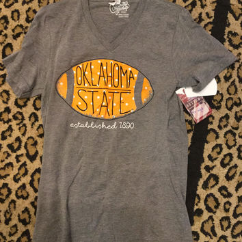 Oklahoma State football women's t-shirt