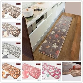 50X200CM Strip Carpets For Bedroom Living Room Rugs And Carpets Coral Velvet Non-Slip Kitchen Mat/Bath Mat Bedside Area Rugs