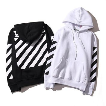 OFF WHITE men print hoodies VIRGIL ABLOH