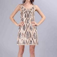 2017 fashion women sleeveless sequin dress summer sexy party dress 1920s vintage great gatsby charleston party dresses