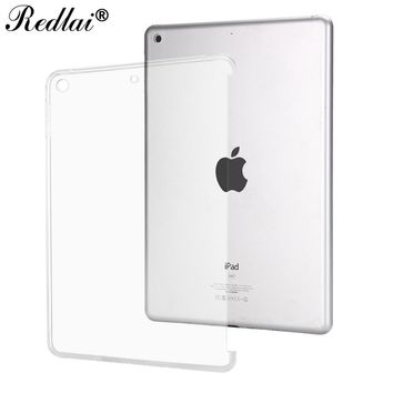 Case for New iPad 9.7 inch 2017,Redlai Ultra-thin Soft TPU Transparant Can See Logo Back Cover Case For Apple New iPad 2017