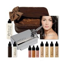 Belloccio Professional Beauty Airbrush Cosmetic Makeup System with 4 Medium Shades of Foundation for Women