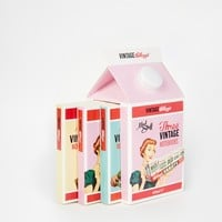 Vintage 50's Milk Carton Notebook Set