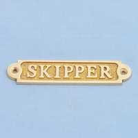 Brass Skipper Sign 5""