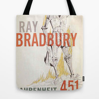 Fahrenheit 451 Book Cover Tote Bag by proudcow | Society6