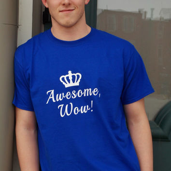 Awesome, Wow T-Shirt. Hamilton Inspired Shirt. Unisex Sizing.