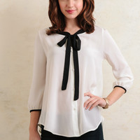 Devon Bow Accent Blouse