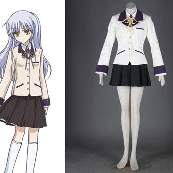 Angel Kanade Tachibana Cosplay Costume, Angel Beats Costume