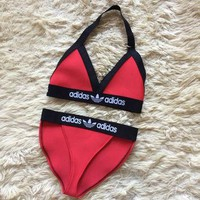 Reworked Adidas Style Halter Triangle Fashion Bikini or Lingerie