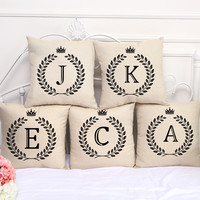 Letter Pillow Covers
